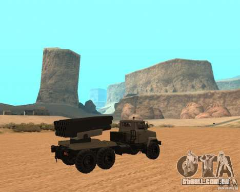 KrAZ-63211 JAMZ v. 1 para GTA San Andreas vista direita