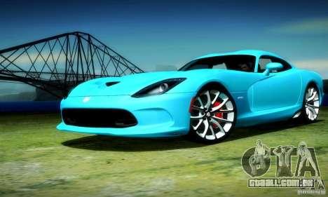 Dodge Viper SRT  GTS para GTA San Andreas vista traseira