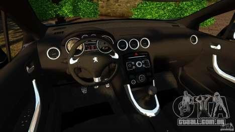 Peugeot 308 2007 para GTA 4 vista de volta