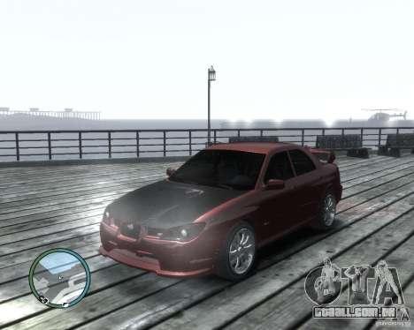 Subaru Impreza WRX STI 2006 para GTA 4 esquerda vista