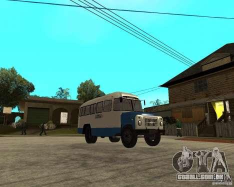 Kavz-685 para GTA San Andreas vista traseira