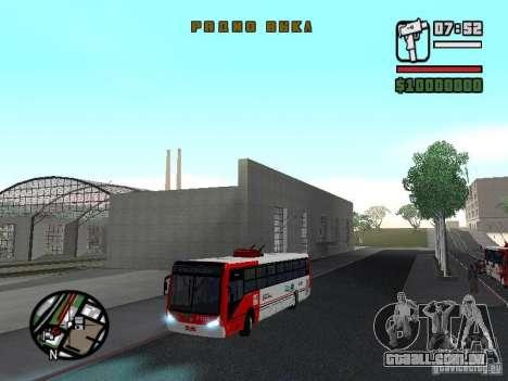 Caio Millennium TroleBus para vista lateral GTA San Andreas