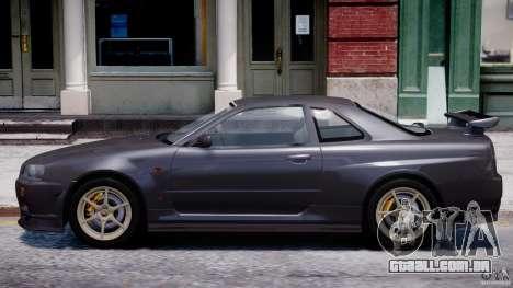 Nissan Skyline GT-R 34 V-Spec para GTA 4 traseira esquerda vista