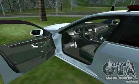 Mercedes-Benz E63 DPS para GTA San Andreas vista superior