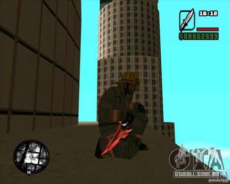 Chrome black red gun pack para GTA San Andreas quinto tela