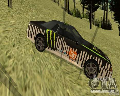 Monster Energy Vinyl para GTA San Andreas esquerda vista