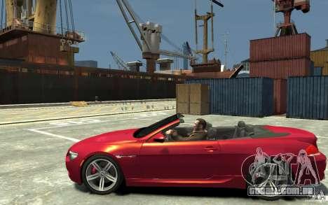 BMW M6 Convertible para GTA 4 esquerda vista
