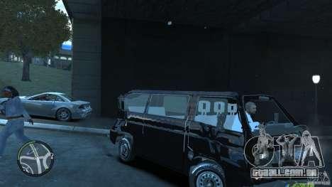 Volkswagen Transporter T3 para GTA 4 vista superior