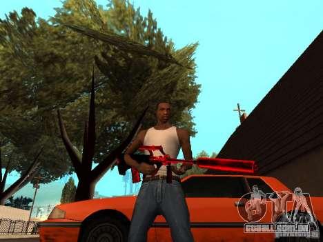 Red Chrome Weapon Pack para GTA San Andreas oitavo tela