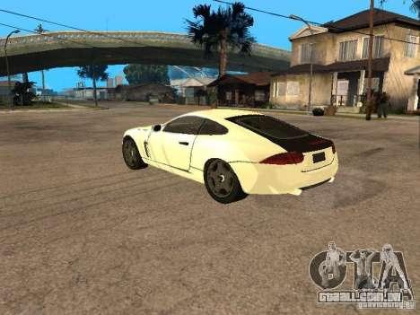 Jaguar XK para GTA San Andreas esquerda vista