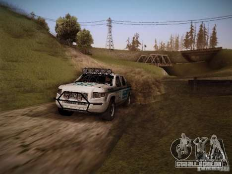 Honda Ridgeline Baja White para GTA San Andreas vista direita