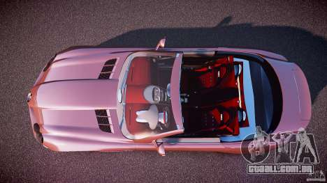Mercedes Benz SLR McLaren 722s 2005 [EPM] para GTA 4 vista direita