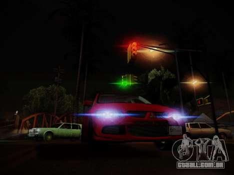 O brilho da luz para GTA San Andreas