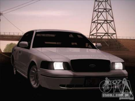 Ford Crown Victoria Interceptor para GTA San Andreas vista superior