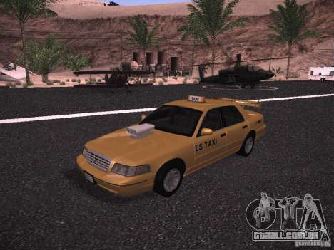 Ford Crown Victoria Taxi 2003 para GTA San Andreas vista interior