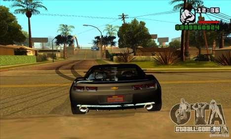Chevrolet Camaro Concept Z06 2007 para GTA San Andreas vista traseira