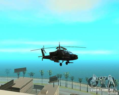 Ka-50 Black Shark para GTA San Andreas vista traseira