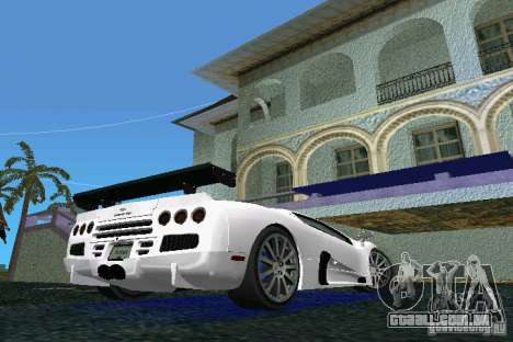 SSC Altimate Aero para GTA Vice City vista traseira esquerda