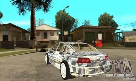 Cromado Volkswagen Phaeton para GTA San Andreas traseira esquerda vista