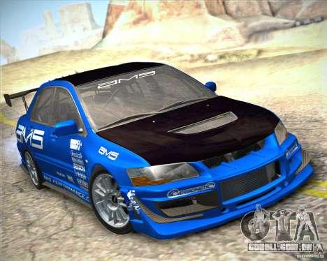Mitsubishi Lancer Evolution IX Tunable para GTA San Andreas