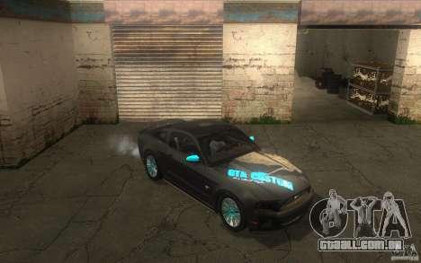Ford Mustang GT V6 2011 para vista lateral GTA San Andreas