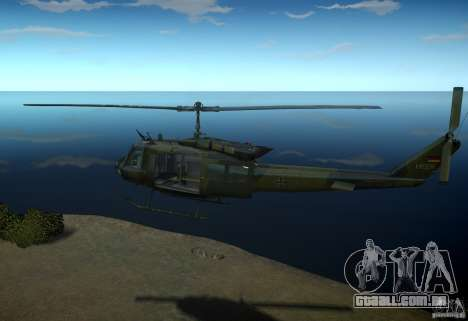 Bell UH-1D German Bundeswehr para GTA 4 esquerda vista