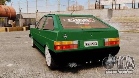 Volkswagen Gol GL 1992 Edit para GTA 4 traseira esquerda vista