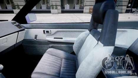 Toyota AE86 TRUENO Initial D para GTA 4 vista de volta