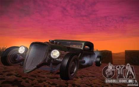 Ford Ratrod 1934 para GTA San Andreas vista traseira
