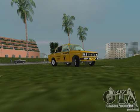 Táxi VAZ 2106 para GTA Vice City vista traseira esquerda