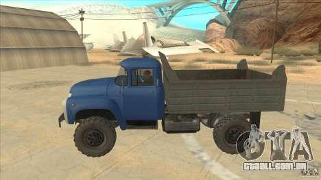 ZIL-MMZ 4502 movimentação de quatro rodas para GTA San Andreas esquerda vista