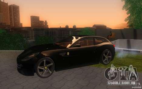 Ferrari FF para GTA San Andreas vista traseira