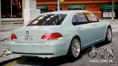 BMW 7 Series E66 para GTA 4 vista direita
