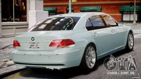 BMW 7 Series E66 para GTA 4 vista direita
