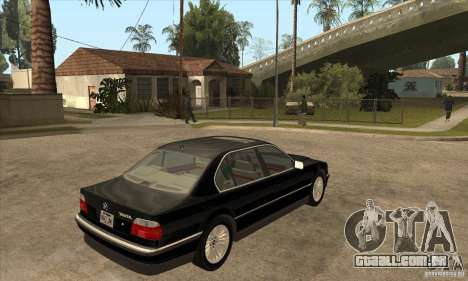 BMW E38 750IL para GTA San Andreas vista direita