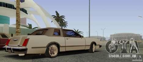 Virgo Continental para GTA San Andreas vista traseira