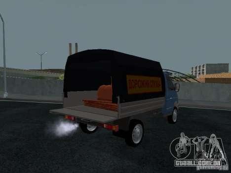 Sable 2310 de gás a bordo para GTA San Andreas vista traseira