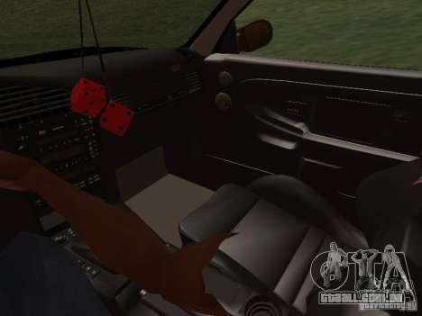 BMW E36 Drift para GTA San Andreas vista superior