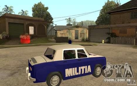 Dacia 1100 Militie para GTA San Andreas vista direita
