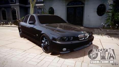 BMW M5 E39 Stock 2003 v3.0 para GTA 4 vista de volta