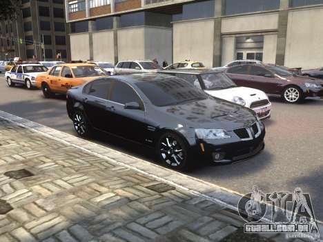Pontiac G8 GXP para GTA 4 vista direita