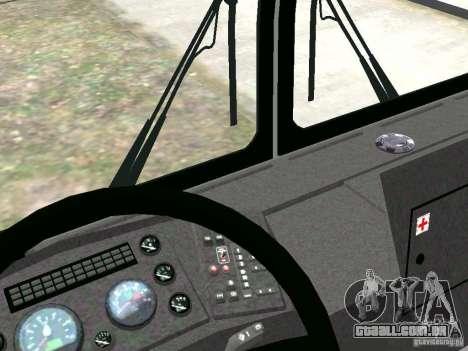 MAZ 5295 v 2.0 final para GTA 4 vista interior