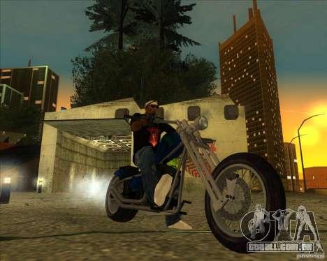 Hexer bike para GTA San Andreas traseira esquerda vista