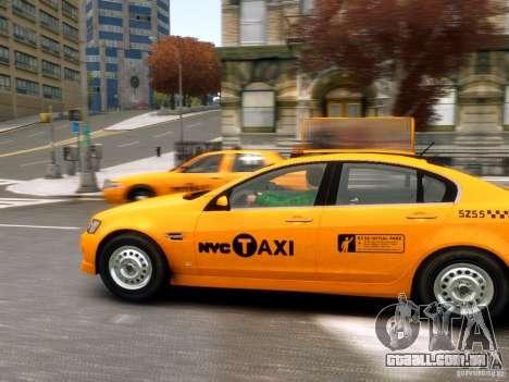 Holden NYC Taxi para GTA 4 esquerda vista