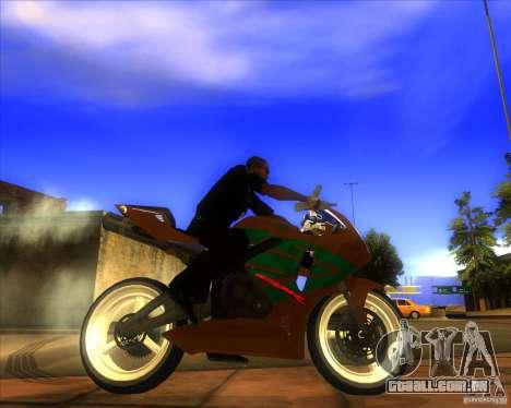 Honda CBR 600RR evo 2005 para GTA San Andreas esquerda vista