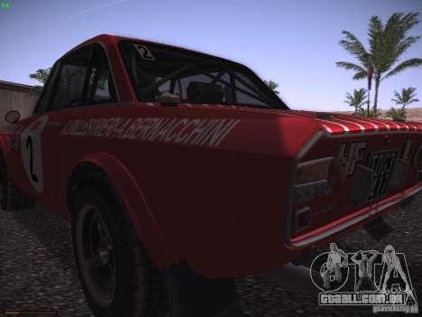 Lancia Fulvia Rally Marlboro para GTA San Andreas vista traseira