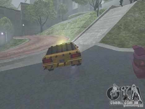 Táxi Zombie para GTA San Andreas vista traseira