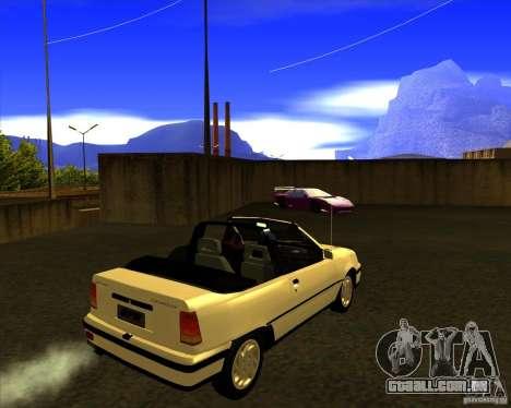 Chevrolet Kadett GSI 2.0 Conversivel (1991-1995) para GTA San Andreas traseira esquerda vista