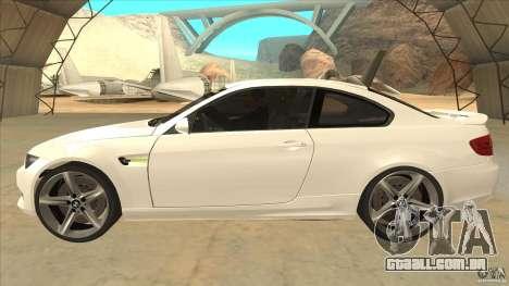 BMW 335i Coupe 2011 para GTA San Andreas esquerda vista