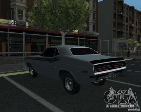 Dodge Chellenger V2.0 para GTA San Andreas traseira esquerda vista